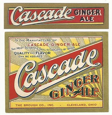 1910's Cascade Ginger Ale Label with Neck - Cleveland, OH