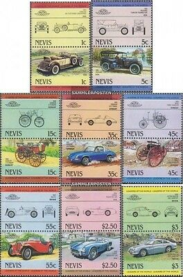 Nevis 148-163 Couples (complete.issue.) unmounted mint / never hinged 1984 Cars