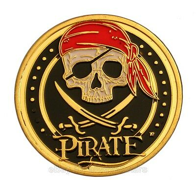 Pirates of The Caribbean Skull Logo Jackie Gold Plated Commemorative Coin Token