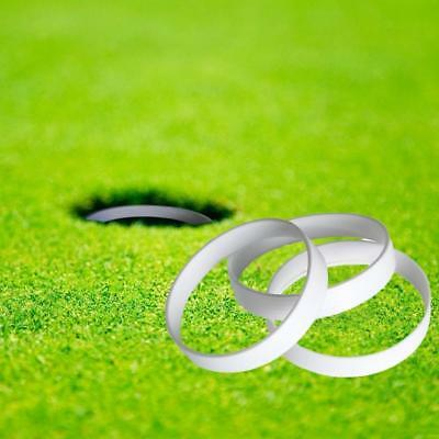 3pcs Golf Putting Green Hole Cup Ring Golf Course Accessory 11cm Dia. White