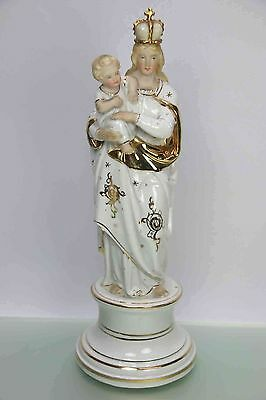 Antike Porzellan Madonna mit Kind TOP um 1900