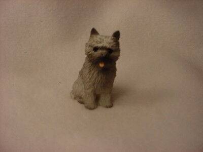 CAIRN TERRIER gray puppy TiNY FIGURINE Resin Dog MINIATURE Mini Pet STATUE NEW