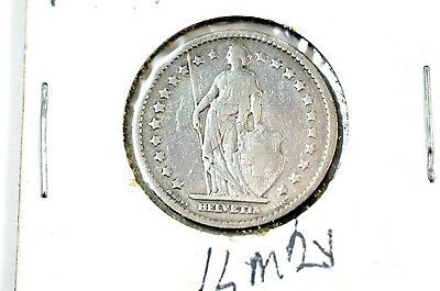 1876 Switzerland Silver 1 Franc Coin No Reserve