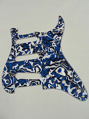 D/'ANDREA Pro TELECASTER PICKGUARD 8 HOLE BLUE SWIRL PEARLOID MADE IN THE USA