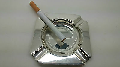 Vintage 1965 Real Solid Silver Ash Tray Total Weight 35.72 Grams 52 Years Old