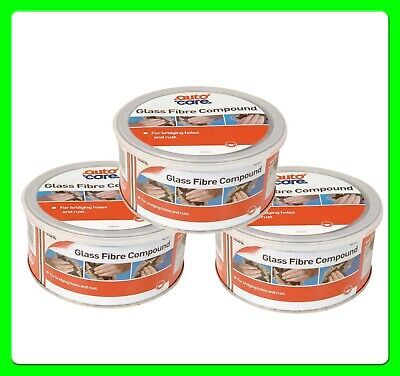* Pack of 3 * Glass Fibre Body Filler Compound [AC557] (p40) inc hardener