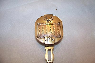 Vintage Stanley London Natural Sine Brass Compass As Is