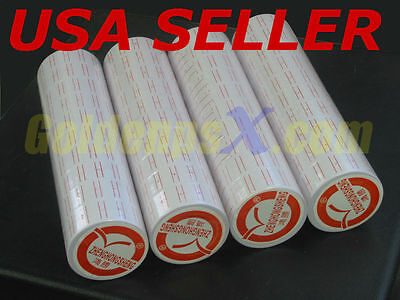 10 tube ( 100 rolls ) Labels For MX-5500 single line Price Label Gun