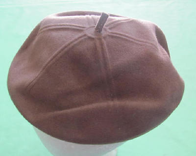 Vintage 1940's era brown wool beret tam by Merrimac Hat Corp.