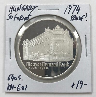 1974 Hungary Silver 50 Forint Proof!!  Km#601