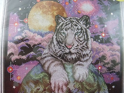 """Cross Stitch Kit ~ Design Works Counted Cross Stitch Picture Kit """"Tiger"""""""