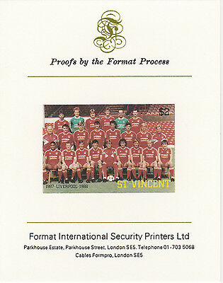 St Vincent 3199 - 1987 FOOTBALL - LIVERPOOL on Format International PROOF  CARD
