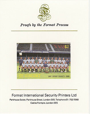 St Vincent 3200 - 1987 FOOTBALL - DERBY CO on Format International PROOF  CARD