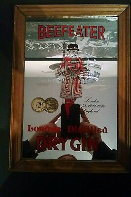 Pub Room Mirror with Beefeater London Distilled Dry Gin graphics.