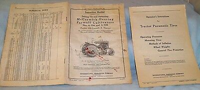 VINTAGE McCORMICK DEERING FARMALL TRACTOR CULTIVATOR CORN INSTRUCTION BOOK 1940