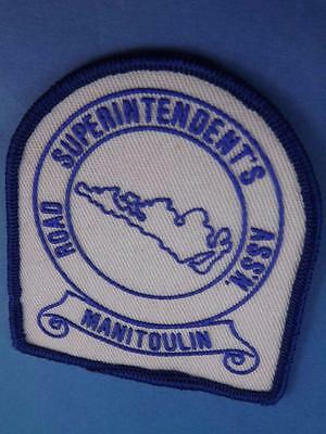Manitoulin Road Superintendents Assn Patch Vintage Island Map Canada Collector