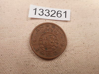 1963 Angola 1 Escudo - Nice Collectible Grade Album Coin - #133261