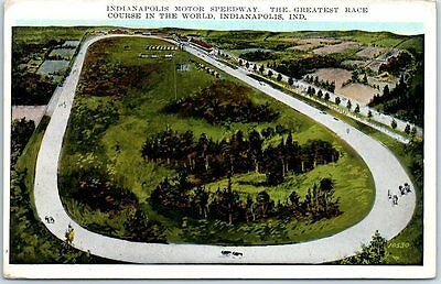 "1930 Indianapolis Motor Speedway Postcard ""Greatest Race Course in the World"""