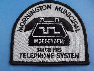 Mornington Municipal Telephone System Independent Since 1919 Patch Vintage Can.