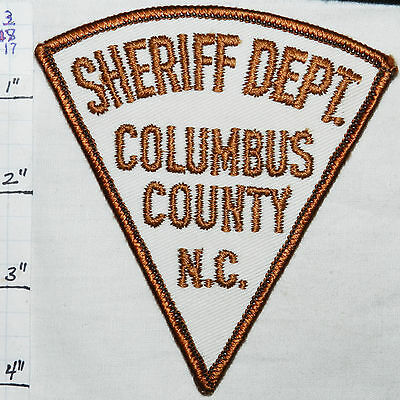 North Carolina, Columbus County Sheriff Dept Vintage Patch