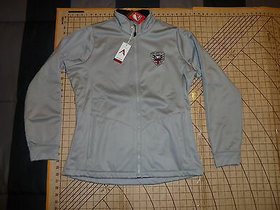 Womens Large Gray Antigua Mls Dc United Soccer Jacket - Nwt