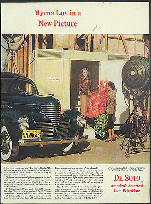 Myrna Loy in a New Picture for De Soto ad 1939
