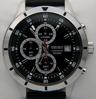 Watch Seiko SKS571P1 Chronograph 100M Man woman Watch New with Box and Warranty