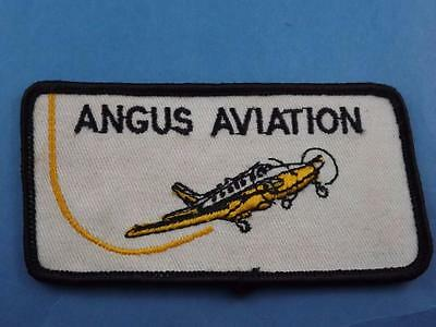 Angus Aviation  Patch Employee Airplane Airport Ontario Canada Collector
