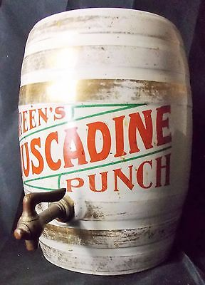 Greens Muscadine Punch Barrel Sign Syrup Dispenser Soda Jerk Fountain Drug Store