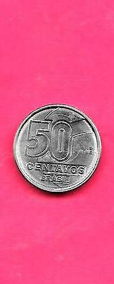 Brazil Km614 1989 Uncirculated-Bu Mint Old 50 Centavos Coin