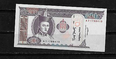 MONGOLIA #65b 2008 UNCIRCULATED 100 TUGRIK CURRENCY BANKNOTE