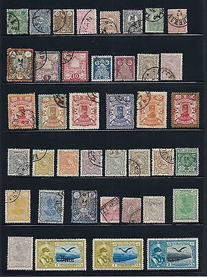 Iran/Persia    2 Pages of Used / Unused hinged postage stamps