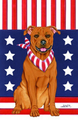 Garden Indoor/Outdoor Patriot (TP) Flag - Pit Bull Terrier 75096