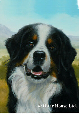 Garden Indoor/Outdoor Portrait Flag - Bernese Mountain Dog (JS) 500511