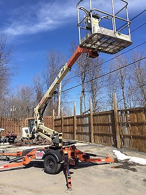 JLG Used 2006 T350 Boom Man Lift Towable Electric Articulating 35' Manlift Genie