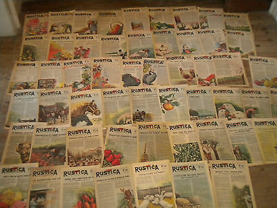 54 issues Rustica Vintage French countryside magazine gardening etc WW2 1940s