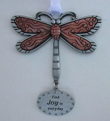 aa Find joy in every day DRAGONFLY Let your Spirit Soar ORNAMENT ganz