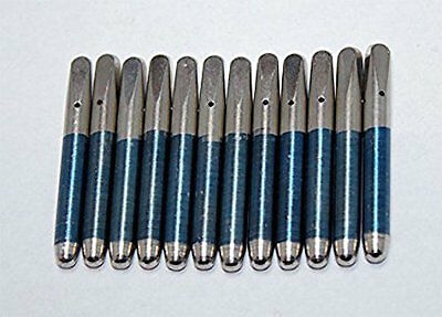 """Piano Tuning Pins Set of 12 Size 5/0 x 2-3/8"""" x .296"""" Replace Loose Tuning Pins"""