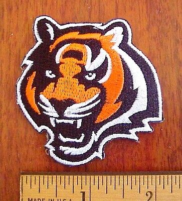 """Cincinnati Bengals Tiger NFL 2 1/4"""" x 2 1/4""""  Embroidered Iron-On Patch"""