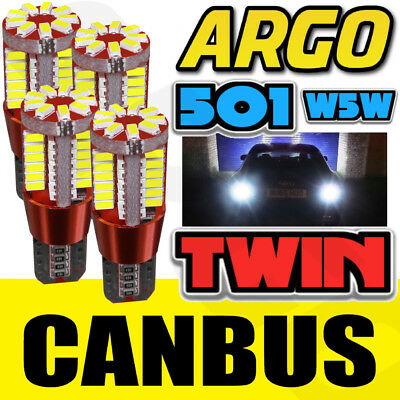 X4 T10 57 Smd Led Canbus Error Free Large Sidelights Xenon White Ultra Bright