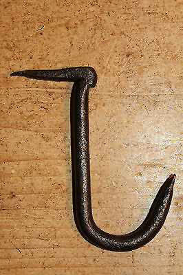 Vintage/Old Wrought Iron Hook~Meat/Beam/Hanging Hook~Forged~
