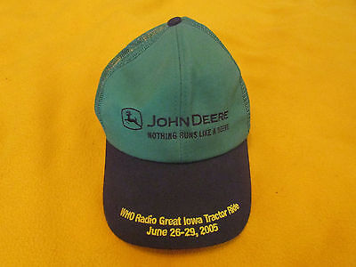 JOHN DEERE *BLACK & GREEN* Twill Mesh CAP HAT 2005 Great Iowa Tractor Ride