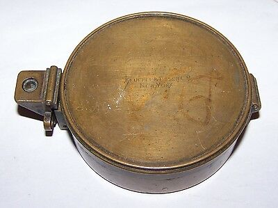Antique Keuffel Esser Co Pocket Compass Surveyor Engineer Vintage