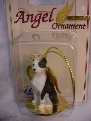 PITBULL dog ANGEL ORNAMENT Figurine PAINTED Statue NEW Christmas.puppy Pit Bull
