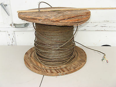 """3/8"""" STEEL WIRE ARMORED TELEPHONE CABLE SPOOL/REEL 4 Conductor MILITARY OUTDOOR"""