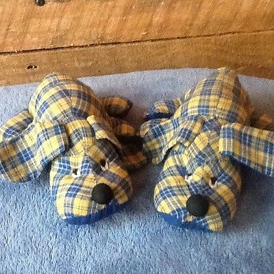 "Lot 2- Hand Made Stuffed 6"" Dogs Stuffed Animal-Sewn Eyes"