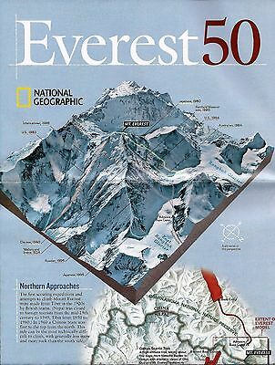 Mount Everest National Geographic Maps