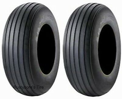 TWO 9.5L-15 LRD Rib Implement I1 tires & tubes - Disc, Cultivator, Haybine, etc
