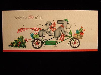 "Vintage ""from The Two Of Us............!!"" Christmas Greeting Card"