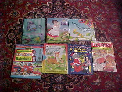 Lot of 7 Children's Picture Books IN GERMAN Kids
